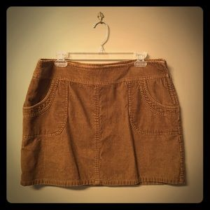 Golden Brown H&M Corduroy Skirt, size 14